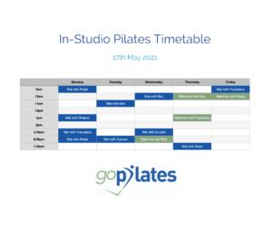goPilates Studio Timetable