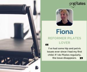 How Pilates helped me Reformer Fiona