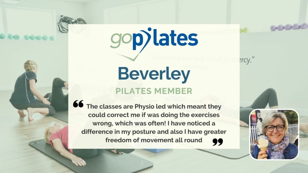 What Pilates means to me, Beverley