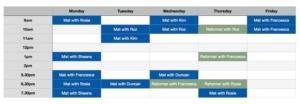 goPilates Timetable